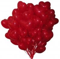 100 красных сердец