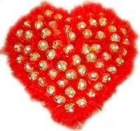 Сердце Ferrero Cостав: конфеты Ferrero Rocher- 63 шт. Размер:40 х 40 см.