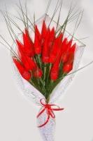 19 тюльпанов Состав: конфеты Коко Чоко Рошен- 19 шт. Размер: 40- 45 см