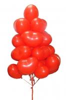 29 красных сердец Состав: шарик- сердце красный, наполненные гелием- 29 шт.