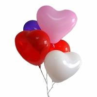 5 разноцветных сердец Состав: шарики- сердца разноцветные, наполненные гелием- 5 шт.