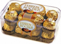Ferrero Rocher 200г Вы идете на День рождения или же просто желаете выразить свои чувства, каким бы ни было мероприятие, достаточно к букету цветов или бутылке хорошего напитка добавить упаковку конфет «Ferrero Rocher» и само событие, все происходящее приобретет совершенно иное, необыденное значение. Вы получите и подарите праздник! Ferrero Rosher – это всегда хрустящая конфета из лучшего шоколада, покрытая измельченными орешками, с начинкой из крема и цельным лесным орехом внутри. И эта милая вкусная коробочка конфет принесет настоящую и самую сладкую радость ее обладателю. Вес: 200 гр.
