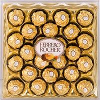 Ferrero Rocher Вы идете на День рождения или же просто желаете выразить свои чувства, каким бы ни было мероприятие, достаточно к букету цветов или бутылке хорошего напитка добавить упаковку конфет «Ferrero Rocher» и само событие, все происходящее приобретет совершенно иное, необыденное значение. Вы получите и подарите праздник!Ferrero Rosher – это всегда хрустящая конфета из лучшего шоколада, покрытая измельченными орешками, с начинкой из крема и цельным лесным орехом внутри. И эта милая вкусная коробочка конфет принесет настоящую и самую сладкую радость ее обладателю.Вес: 300 гр.