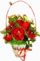 Весенний сад Состав: конфеты шоколадные- 11 шт. Размер: 40 см.