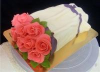 Торт 9 розовых роз