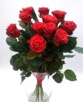 Букет 11 Эльторро Состав букета: роза красная- 11 шт Оформление: лента Размер: 60 см