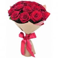 Букет 17 красных роз Состав букета: роза красная украинская- 17 шт Оформление: бумага Размер:60 см