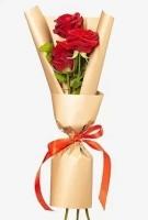 Букет 3 красные розы