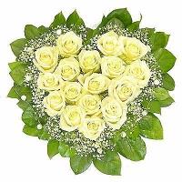 Бесконечная любовь Состав: роза белая- 17 шт, гипсофила, зелень. По Вашему усмотрению, цветовая гамма, а также цветочный состав композиции может изменяться.