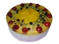 Торт фруктовый Фруктовый торт подарит настоящую сладкую радость своей обладательнице. Сладкое и нежное лакомство приятно удивит множеством разнообразных фруктов. Подарите незабываемую сладость своим любимым, заказав тортик к любому букету или цветочной композиции. Вес торта: 1 кг.