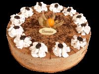 Торт Тирамиссу Торт Тирамиссу представляет собой творожно-сливочное удовольствие. Подарив такое лакомство, Вы подарите настоящий сладкий праздник имениннику. Вес торта: 1 кг.