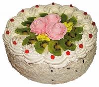 Торт Бисквитный Бисквитный торт известен во всем мире и признан лучшим праздничным десертом. Он состоит из бисквитных коржей, пропитанных кремом и украшенных разнообразными фруктами. Такой подарочный торт станет лучшим украшением праздника и подарит огромную радость имениннику. Вес торта: 1 кг.