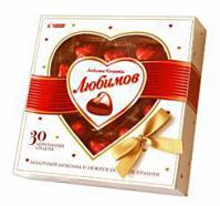 Конфеты Любимов Состав: конфеты- шоколадные сердечки. Вес: 125 гр.