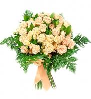 Сказочное утро Состав: роза кустовая- 10 шт, зелень.