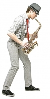 Саксофонист при доставке цветов и подарков Профессиональное выступление саксофониста при доставке цветов и подарков. Музыка, которая проникнет глубоко в душу и сердце, напомнит о приятных моментах в жизни и заставит Вас забыться о буденных днях и просто окунуться в мир музыки, красоты и счастья. Саксофонист при доставке- это всегда неожиданно, романтично и непередаваемо чувственно. Такой подарок надолго останется в памяти Вашего любимого и дорогого человека. Выступление саксофониста при доставке длиться 10 - 15 минут. Перечень композиций: 1. Arash - Rebecca2. Isn`t she love me3. Killing me softly with his song (рекомендуем)4. Lady in red5. 13 Love story6. 14 Misty7. Only you!8. Pasadena (веселая)9. Oh, pretty woman (саундтрек из фильма