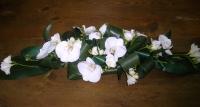Свадебное настроение Состав: фрезия- 10 шт, орхидея фаленопсис, аспидистра. Длина: 70 см.