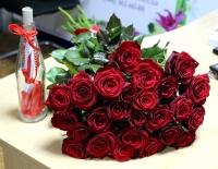 Розы и послание в бутылке