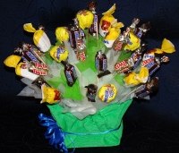 Сюрприз для сладкоежки Состав: конфеты сникерс, марс, баунти, натс- 27 шт Размер: 27 х 27 х 30 см