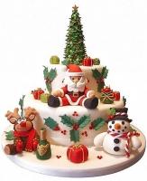 Торт Счастливое Рождество