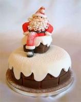 Торт Санта на крыше