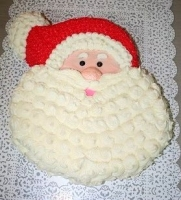 Торт Дедушка Мороз Вес торта: 3 кг Заказывать торт необходимо за 3- 4 дня до момента доставки! Доставка торта возможна только по Киеву и области. Выберите начинку для торта: ФруктовыйНежный ванильный бисквит, пропитанный сахарным сиропом. Крем из натуральных, взбитых сливок с кусочками фруктов (персик, киви, ананас, груша, вишня, ягоды по сезону). Шоколадно-вишневыйШоколадный бисквит, пропитанный вишневым сиропом (по желанию с коньяком), взбитые сливки с вишней и кусочками шоколада. СметанникШоколадный и ванильный бисквит, сметанный крем (по желанию с добавлением орехов и кусочками шоколада). ЛакомкаТрадиционный белый бисквит, пропитанные карамельным сиропом, нежный крем из взбитых сливок с добавлением сгущенки-ириски с вишней. Птичье молоко Нежный бисквит(ванильный или шоколадный, на выбор), пропитанный ванильным сиропом. Крем— суфле птичье молоко скусочками белого ичерного шоколада. Золотой ключик Ореховый бисквит, пропитанный кофейным сиропом, крем на основе вареной сгущенки с жаренными грецкими орехами. ТрюфельныйШоколадный бисквит с кусочками шоколада, ромовая пропитка, шоколадно трюфельный крем с кусочками шоколада. Медовик Тонкие медовые коржи, сметанный крем, чернослив, курага игрецкий орех. (Можно без сухофруктов или на выбор).