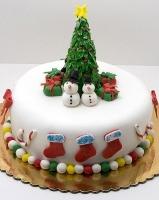Торт Снеговики у ёлки