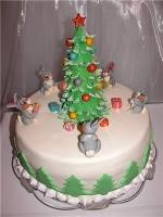 Торт Зайчики у ёлочки