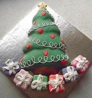 Торт Ёлочка с подарками Вес торта: 2.5 кг Заказывать торт необходимо за 3- 4 дня до момента доставки! Выберите начинку для торта: ФруктовыйНежный ванильный бисквит, пропитанный сахарным сиропом. Крем из натуральных, взбитых сливок с кусочками фруктов (персик, киви, ананас, груша, вишня, ягоды по сезону). Шоколадно-вишневыйШоколадный бисквит, пропитанный вишневым сиропом (по желанию с коньяком), взбитые сливки с вишней и кусочками шоколада. СметанникШоколадный и ванильный бисквит, сметанный крем (по желанию с добавлением орехов и кусочками шоколада). ЛакомкаТрадиционный белый бисквит, пропитанные карамельным сиропом, нежный крем из взбитых сливок с добавлением сгущенки-ириски с вишней. Птичье молоко Нежный бисквит(ванильный или шоколадный, на выбор), пропитанный ванильным сиропом. Крем— суфле птичье молоко скусочками белого ичерного шоколада. Золотой ключик Ореховый бисквит, пропитанный кофейным сиропом, крем на основе вареной сгущенки с жаренными грецкими орехами. ТрюфельныйШоколадный бисквит с кусочками шоколада, ромовая пропитка, шоколадно трюфельный крем с кусочками шоколада. Медовик Тонкие медовые коржи, сметанный крем, чернослив, курага игрецкий орех. (Можно без сухофруктов или на выбор).