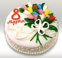 Торт Поздравляю с 8 Марта