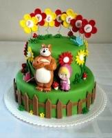 Торт Маша и мишка