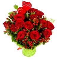 Букет роз Валентинка