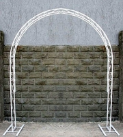 Свадебная арка № 9 Арка свадебная металлическая, окрашенная в белый цвет Размер: 2.10 х 1.65 м Аренда арки на сутки 500 грн!