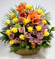 Корзина цветов Шедевр