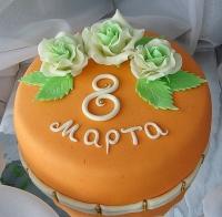 Торт Солнечный Март Вес торта: 3 кг Заказывать торт необходимо за 3- 4 дня до момента доставки! Доставка торта возможна только по Киеву и области. Выберите начинку для торта: ФруктовыйНежный ванильный бисквит, пропитанный сахарным сиропом. Крем из натуральных, взбитых сливок с кусочками фруктов (персик, киви, ананас, груша, вишня, ягоды по сезону). Шоколадно-вишневыйШоколадный бисквит, пропитанный вишневым сиропом (по желанию с коньяком), взбитые сливки с вишней и кусочками шоколада. СметанникШоколадный и ванильный бисквит, сметанный крем (по желанию с добавлением орехов и кусочками шоколада). ЛакомкаТрадиционный белый бисквит, пропитанные карамельным сиропом, нежный крем из взбитых сливок с добавлением сгущенки-ириски с вишней. Птичье молоко Нежный бисквит(ванильный или шоколадный, на выбор), пропитанный ванильным сиропом. Крем— суфле птичье молоко скусочками белого ичерного шоколада. Золотой ключик Ореховый бисквит, пропитанный кофейным сиропом, крем на основе вареной сгущенки с жаренными грецкими орехами. ТрюфельныйШоколадный бисквит с кусочками шоколада, ромовая пропитка, шоколадно трюфельный крем с кусочками шоколада. Медовик Тонкие медовые коржи, сметанный крем, чернослив, курага и грецкий орех. (Можно без сухофруктов или на выбор).