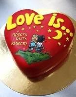 Торт Сердце Валентина