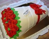 Торт Букет алых роз