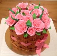 Торт Корзинка с розами