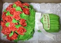 Торт Букет цветов Вес торта: 4 кг Заказывать торт необходимо за 3- 4 дня до момента доставки! Выберите начинку для торта: ФруктовыйНежный ванильный бисквит, пропитанный сахарным сиропом. Крем из натуральных, взбитых сливок с кусочками фруктов (персик, киви, ананас, груша, вишня, ягоды по сезону). Шоколадно-вишневыйШоколадный бисквит, пропитанный вишневым сиропом (по желанию с коньяком), взбитые сливки с вишней и кусочками шоколада. СметанникШоколадный и ванильный бисквит, сметанный крем (по желанию с добавлением орехов и кусочками шоколада). ЛакомкаТрадиционный белый бисквит, пропитанные карамельным сиропом, нежный крем из взбитых сливок с добавлением сгущенки-ириски с вишней. Птичье молоко Нежный бисквит(ванильный или шоколадный, на выбор), пропитанный ванильным сиропом. Крем— суфле птичье молоко скусочками белого ичерного шоколада. Золотой ключик Ореховый бисквит, пропитанный кофейным сиропом, крем на основе вареной сгущенки с жаренными грецкими орехами. ТрюфельныйШоколадный бисквит с кусочками шоколада, ромовая пропитка, шоколадно трюфельный крем с кусочками шоколада. Медовик Тонкие медовые коржи, сметанный крем, чернослив, курага и грецкий орех. (Можно без сухофруктов или на выбор)