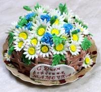 Торт Ромашки для мамы