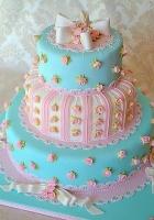 Торт Мятно-розовый