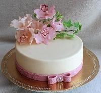Торт Розовая орхидея