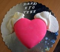 Торт Крылатое сердце