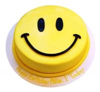 Торт Смайл Вес торта: 3 кг Заказывать торт необходимо за 3- 4 дня до момента доставки! Доставка торта возможна только по Киеву и области. Выберите начинку для торта: ФруктовыйНежный ванильный бисквит, пропитанный сахарным сиропом. Крем из натуральных, взбитых сливок с кусочками фруктов (персик, киви, ананас, груша, вишня, ягоды по сезону). Шоколадно-вишневыйШоколадный бисквит, пропитанный вишневым сиропом (по желанию с коньяком), взбитые сливки с вишней и кусочками шоколада. СметанникШоколадный и ванильный бисквит, сметанный крем (по желанию с добавлением орехов и кусочками шоколада). ЛакомкаТрадиционный белый бисквит, пропитанные карамельным сиропом, нежный крем из взбитых сливок с добавлением сгущенки-ириски с вишней. Птичье молоко Нежный бисквит(ванильный или шоколадный, на выбор), пропитанный ванильным сиропом. Крем— суфле птичье молоко скусочками белого ичерного шоколада. Золотой ключик Ореховый бисквит, пропитанный кофейным сиропом, крем на основе вареной сгущенки с жаренными грецкими орехами. ТрюфельныйШоколадный бисквит с кусочками шоколада, ромовая пропитка, шоколадно трюфельный крем с кусочками шоколада. Медовик Тонкие медовые коржи, сметанный крем, чернослив, курага и грецкий орех. (Можно без сухофруктов или на выбор).