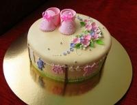 Торт Розовые сандалики