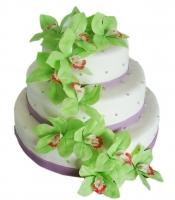 Торт Зеленые орхидеи