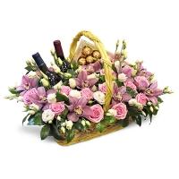 Корзина Роскошные цветы