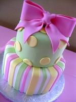 Торт Кружечки и полосочки