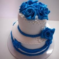 Торт Синие розочки