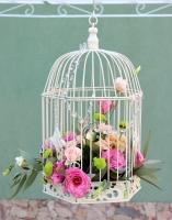 Декоративная свадебная клетка