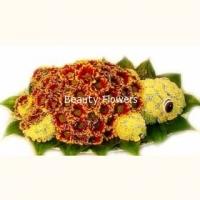 Черепаха Состав: хризантема- 40 шт, флористический декор. Размер:15 х 50 см.